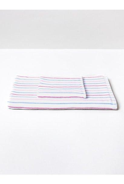 Hand Towel - Stripe - Blu\Pink- Set of 3