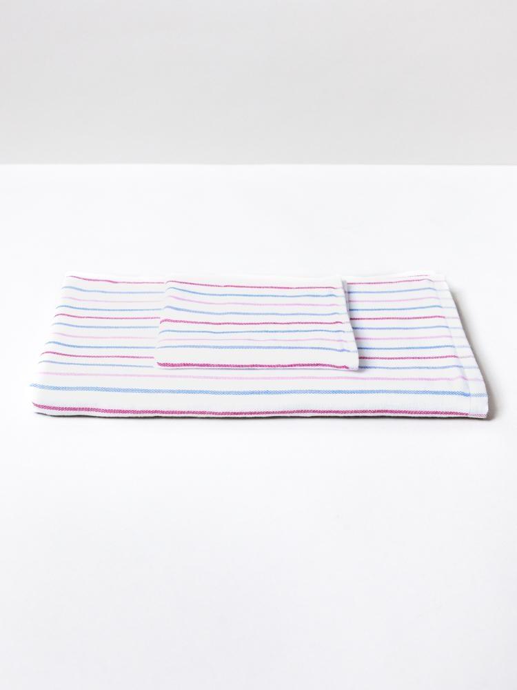 Hand Towel - Stripe - Blu\Pink-1