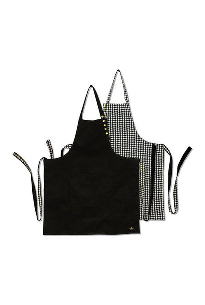 Reversible Apron - Black/ Houndtooth