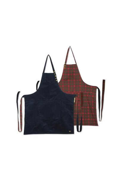 Reversible Apron - Navy/Red Check