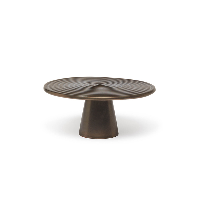 Food/Cake Stand - Platinum  Matt - Medium-1