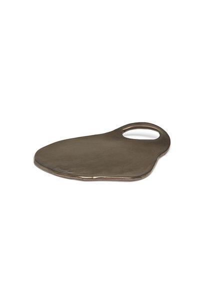 Ceramic Serving Plate - Lola - Platinum Matt - Sm