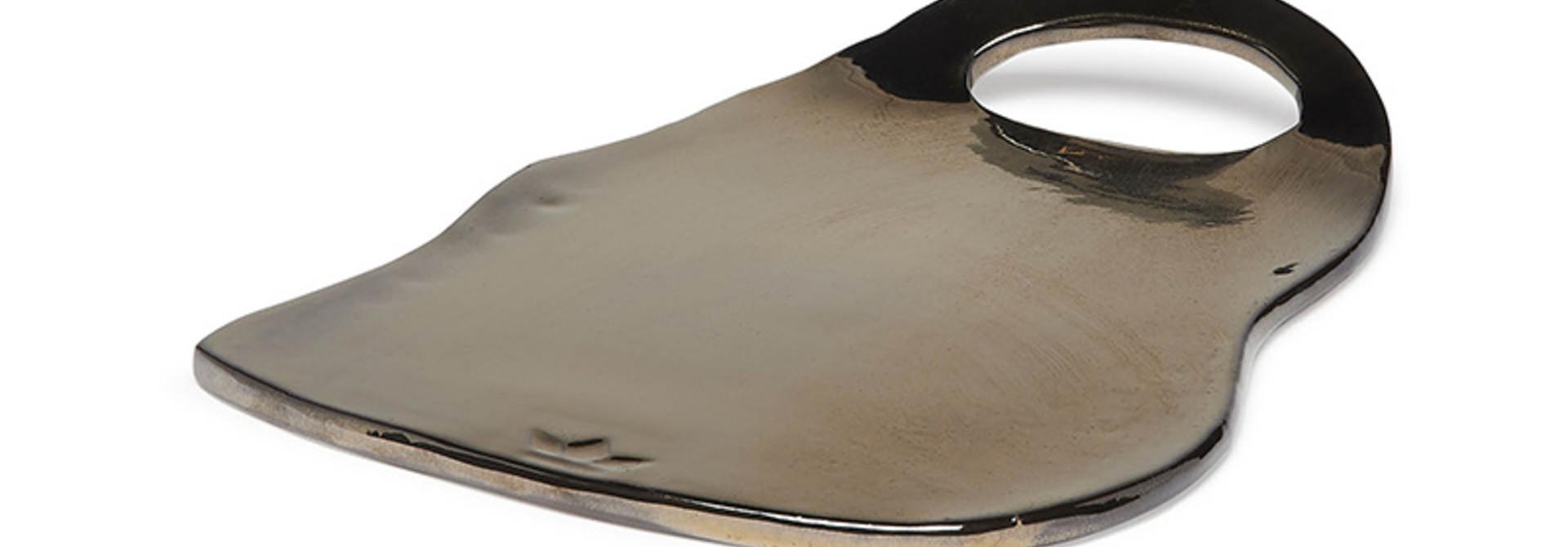 Ceramic Serving Plate -Ted - Platinum - Lge