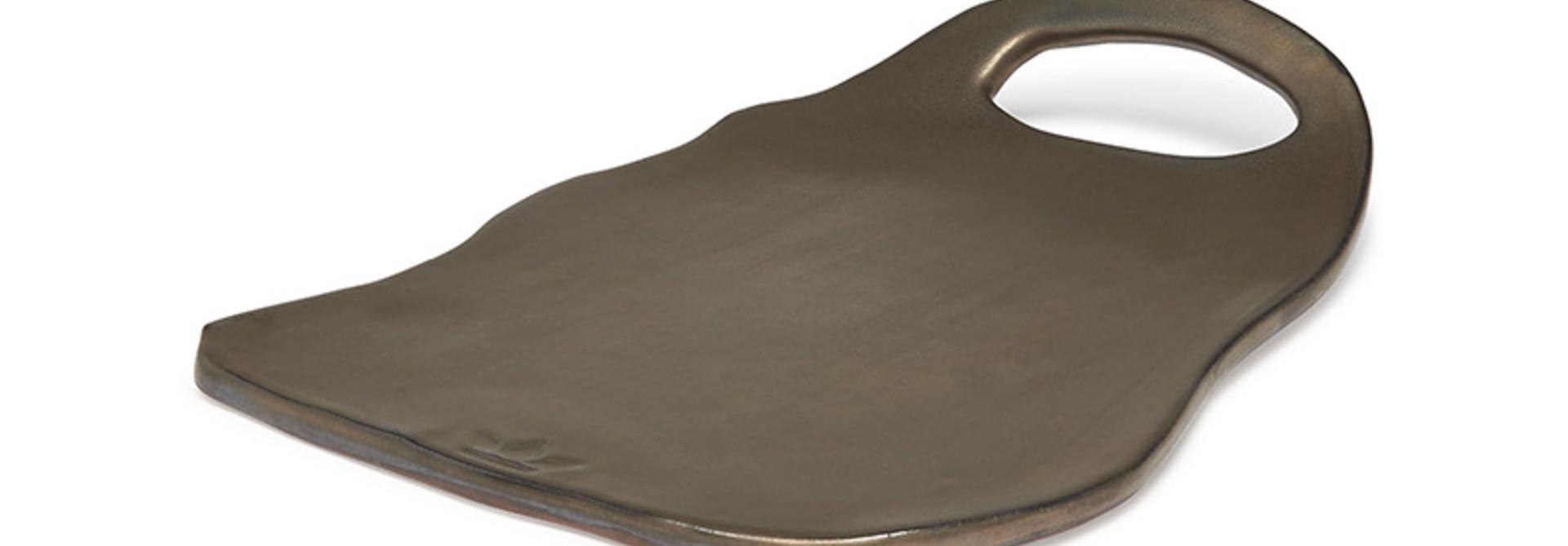Ceramic Serving Plate - Ted - Platinum Matt - Lge