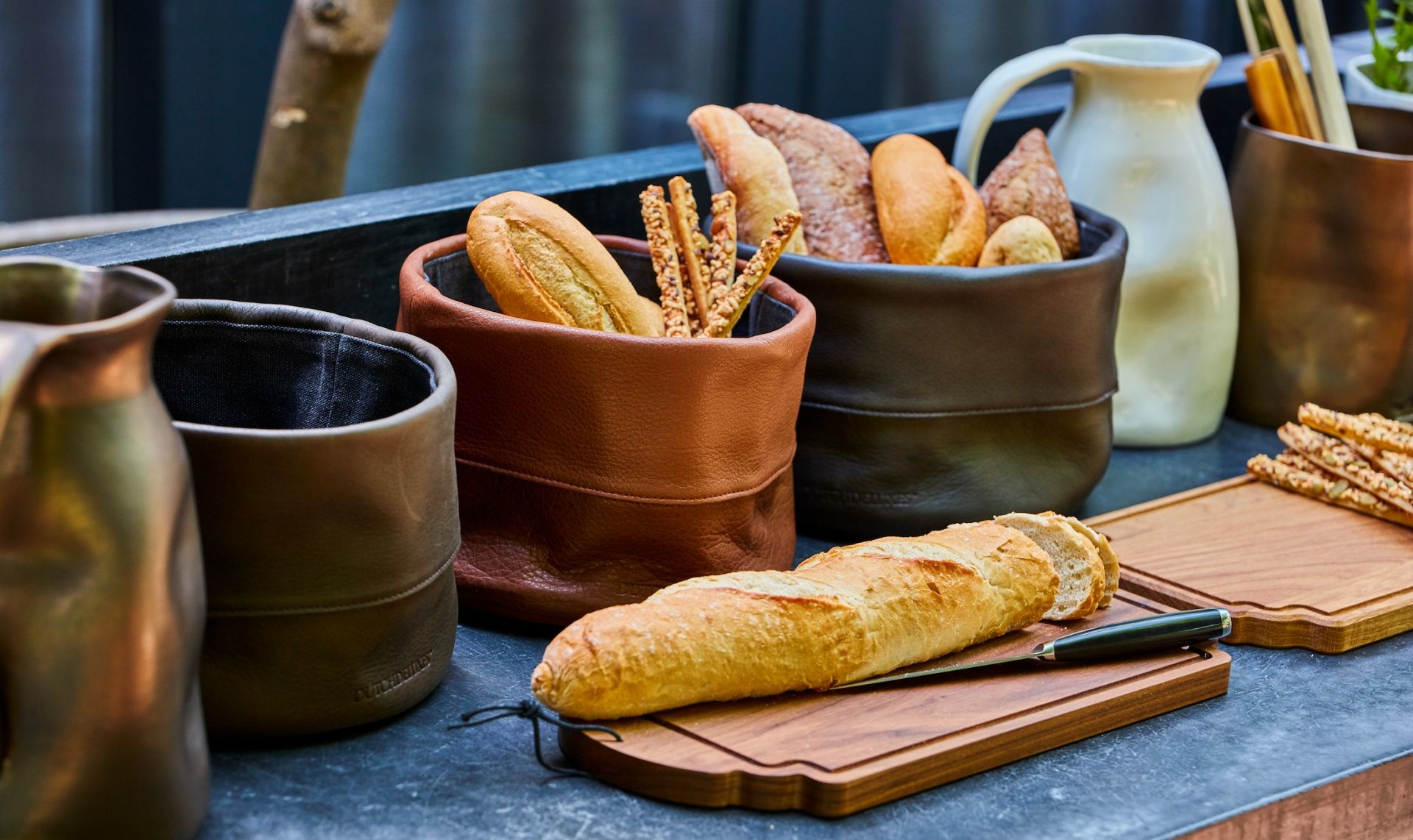 Bread Basket - Ben - Leather - Cognac-2