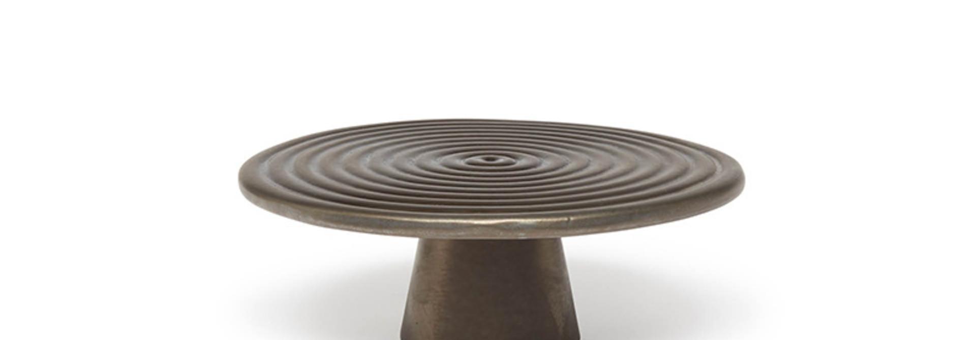 Food/Cake Stand - Platinum Matt - Sm