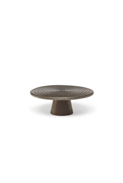 Food/Cake Stand - Platinum Matt - Sm