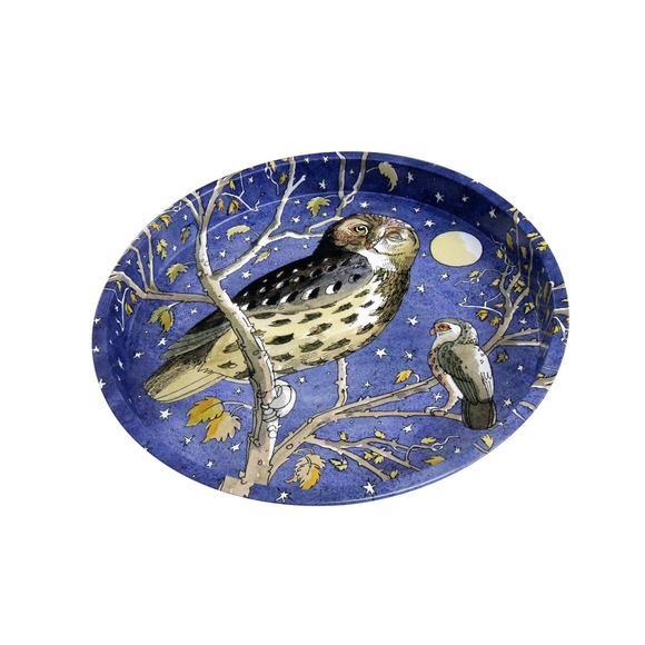 Round Tray - Owl-1