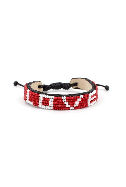 Pet Collar - Love-Red-Large