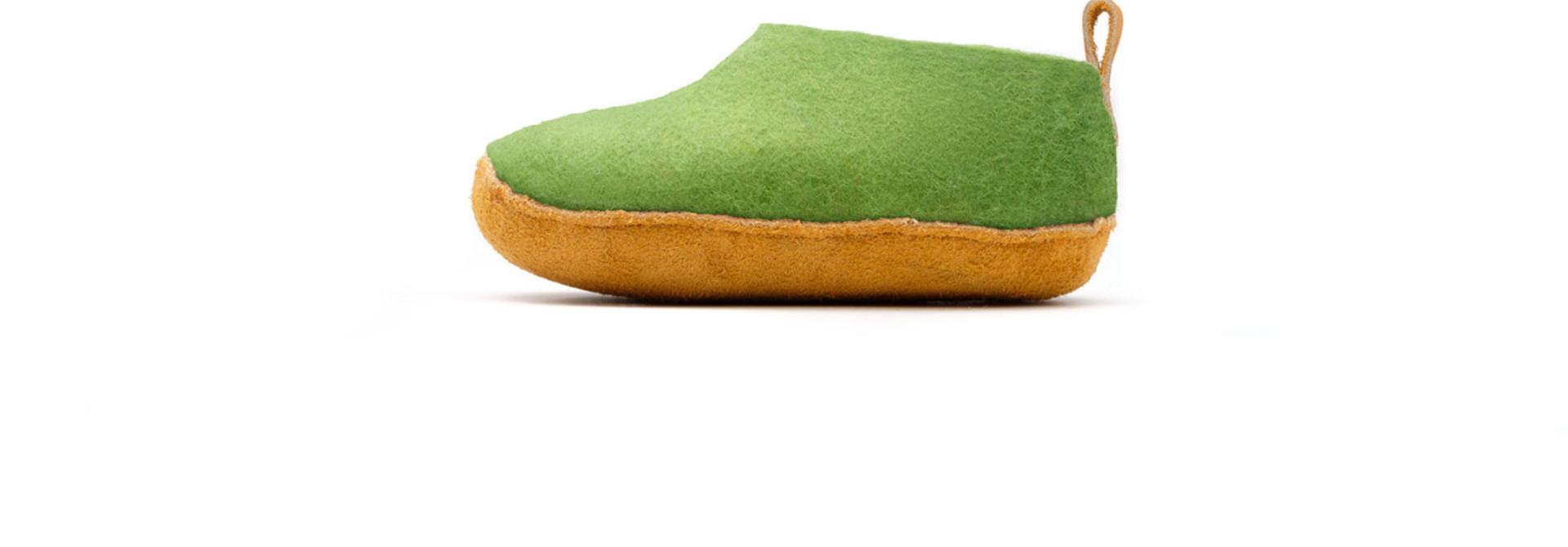 Nauseni Junior Slipper - Green - Sz 25