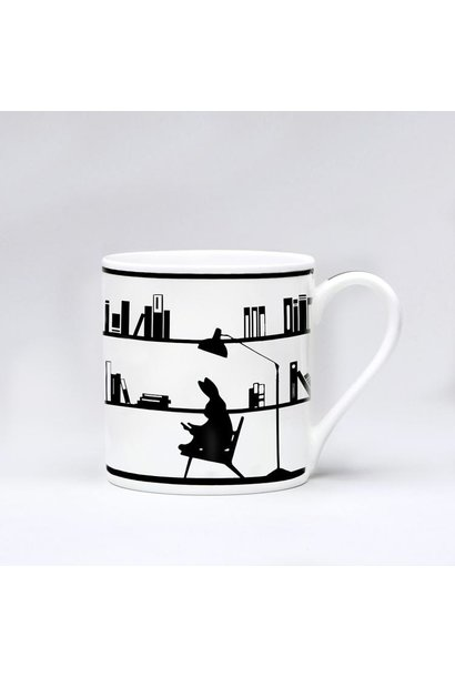 Reading Rabbit Mug