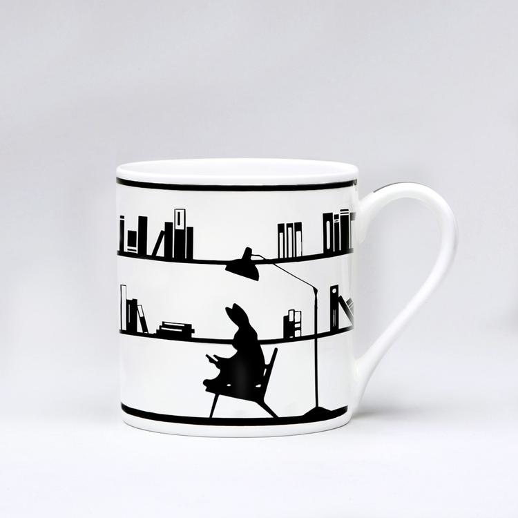 Reading Rabbit Mug-1