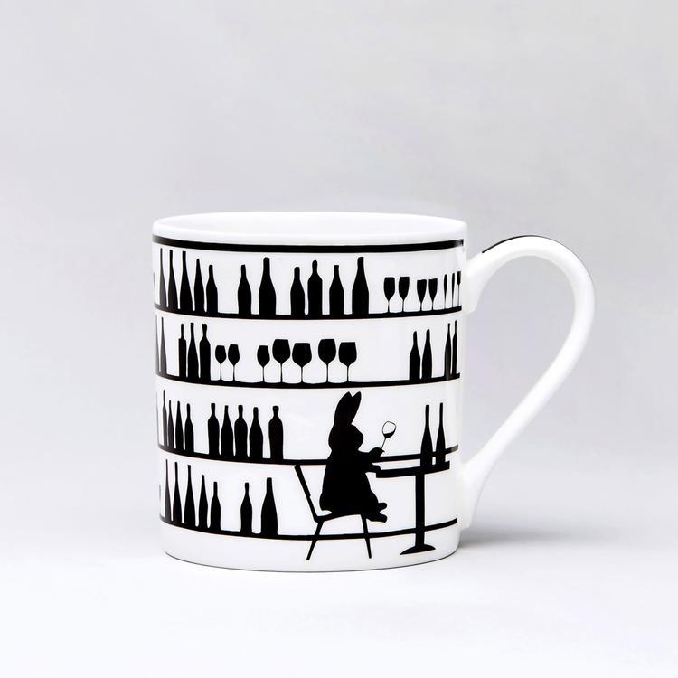 Wine Tasting Rabbit Mug-1