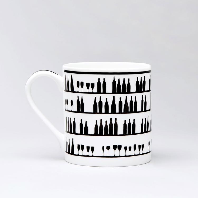 Wine Tasting Rabbit Mug-2