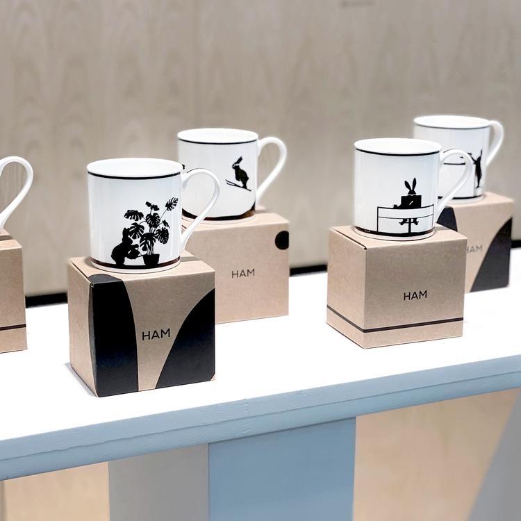 Wine Tasting Rabbit Mug-3