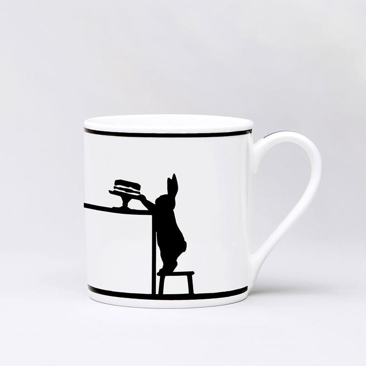 Cake Loving Rabbit Mug-1