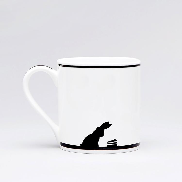 Cake Loving Rabbit Mug-2