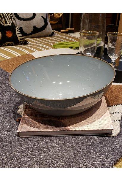 "10.5"" Ceramic Salad Bowl - Smokey Blue"