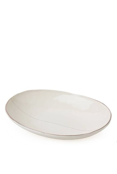 Shallow Oval Bowl - Off White