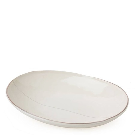 Shallow Oval Bowl - Off White-1