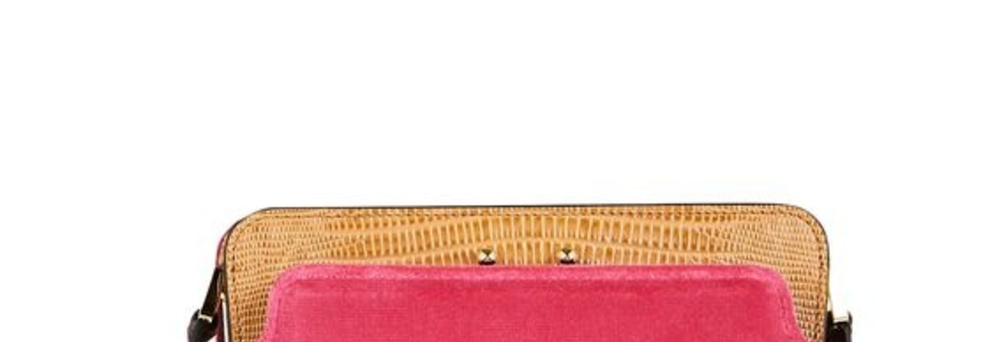 Shoulder Bag - Fushia/Beige