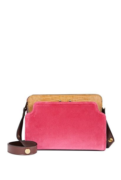 Shoulder Bag - Fushia/Beige