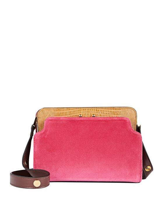 Shoulder Bag - Fushia/Beige-1