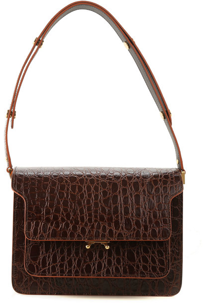 Shoulder Bag - Brown Leather