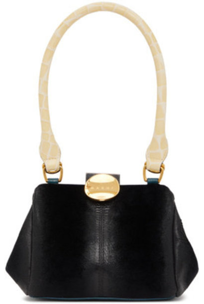 Bag - Black Suede Velvet