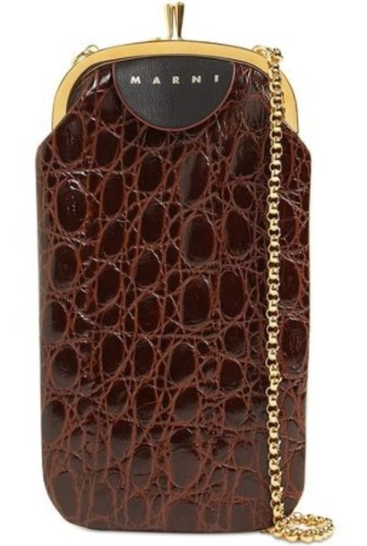 Leather Phonecase - Brown/white