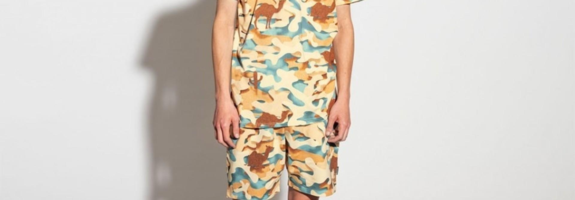 2 Pc s/s Top & Shorts - Desert - Men's - Lge