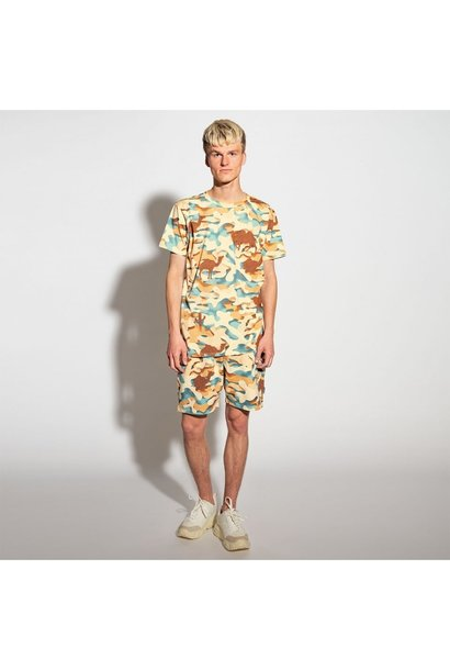 2 Pc s/s Top & Shorts - Desert - Men's - Lge