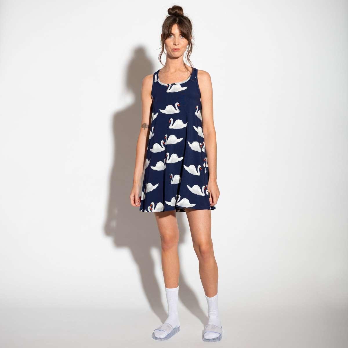 Tank Dress - Cotton - Swan - Sm-1
