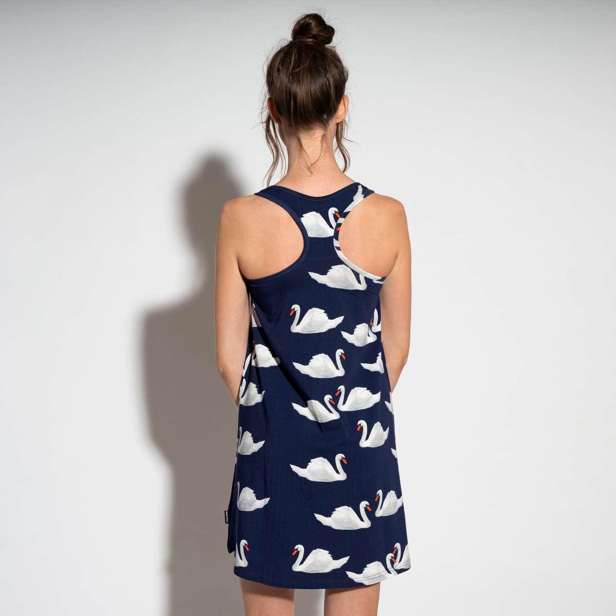 Tank Dress - Cotton - Swan - Sm-2
