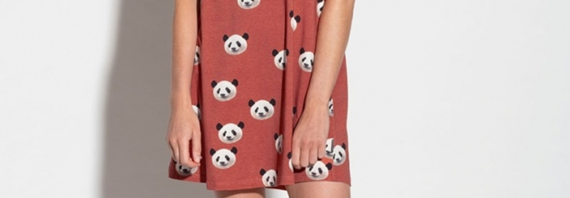 Tank Dress - Cotton - Panda - Lge