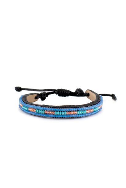 3 row Bracelet - Sea Blue