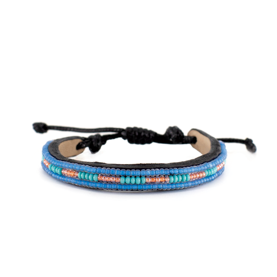 3 row Bracelet - Sea Blue-1
