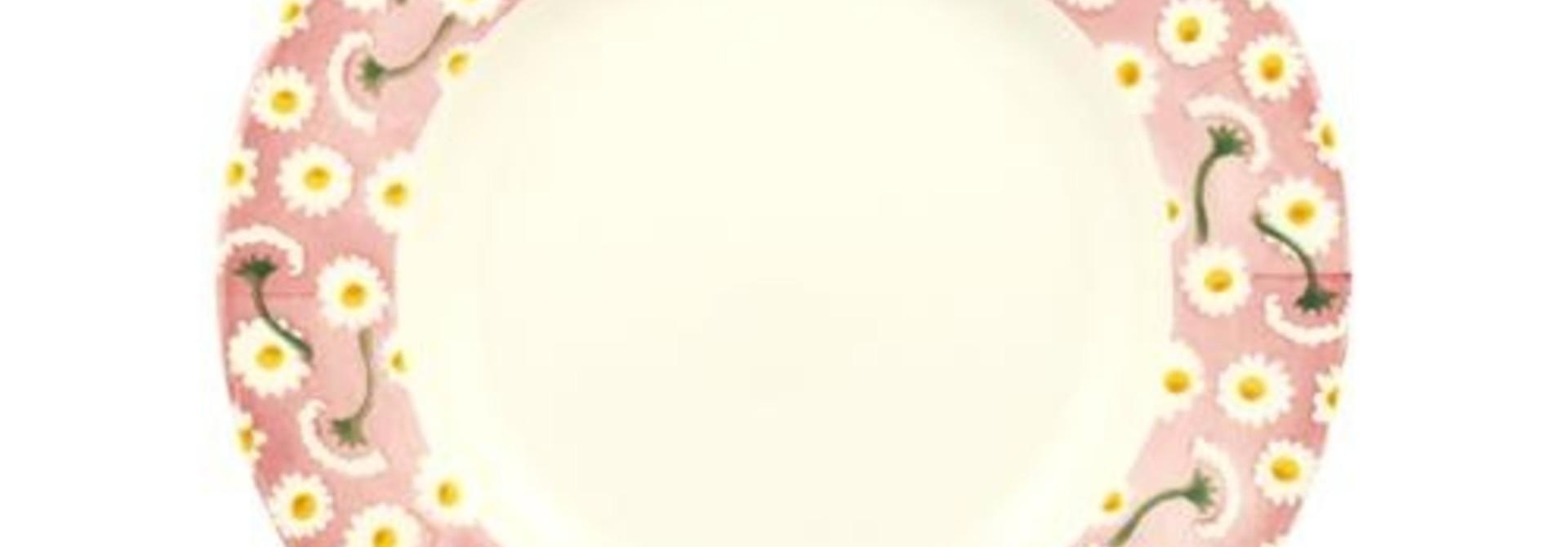 "Pink Daisy -  Plate 8.5"""