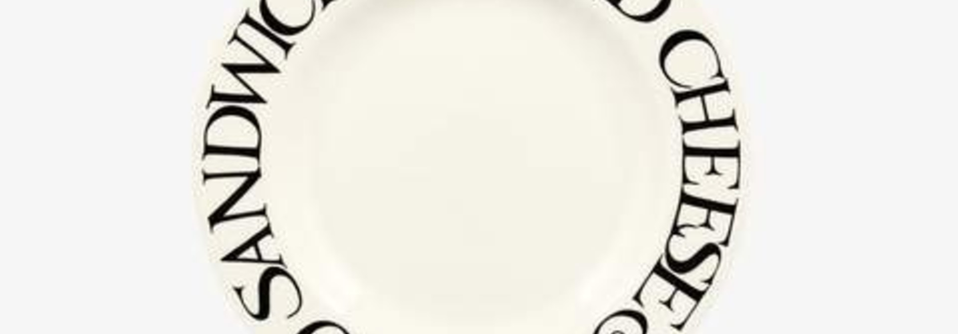 "Black Toast - Cheese & Tomato Plate - 6.5"""