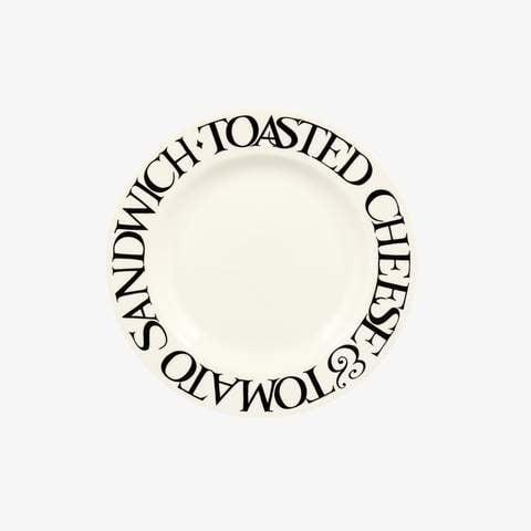 "Black Toast - Cheese & Tomato Plate - 6.5""-1"