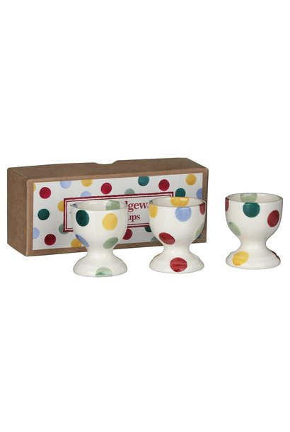Polka Dot Set Of 3 Egg Cups - Boxed