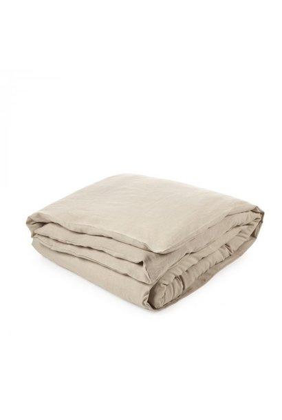 Heritage Flax Duvet & Flat Sheet Set - Queen