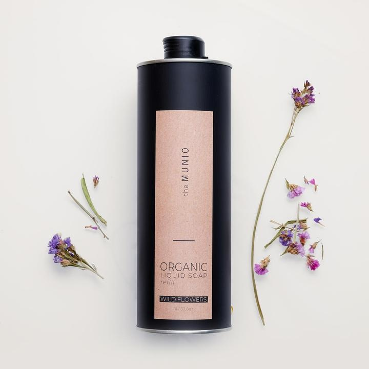 Wild Flowers Organic Liquid Soap - Refill-1