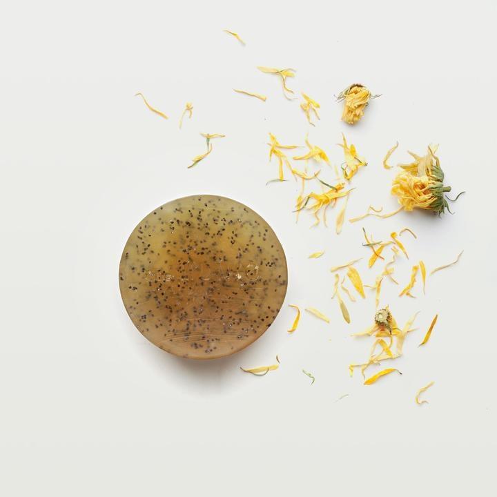 Marigold Organic Scrub Soap Bar-1