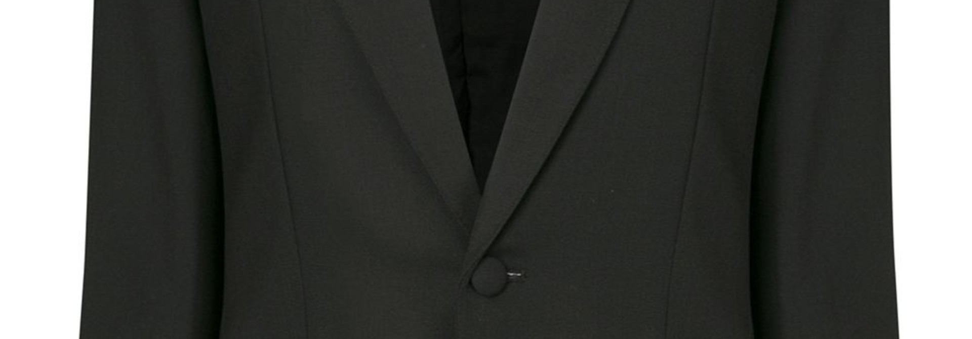 Contrasting lapels fitted blazer - Sz 38
