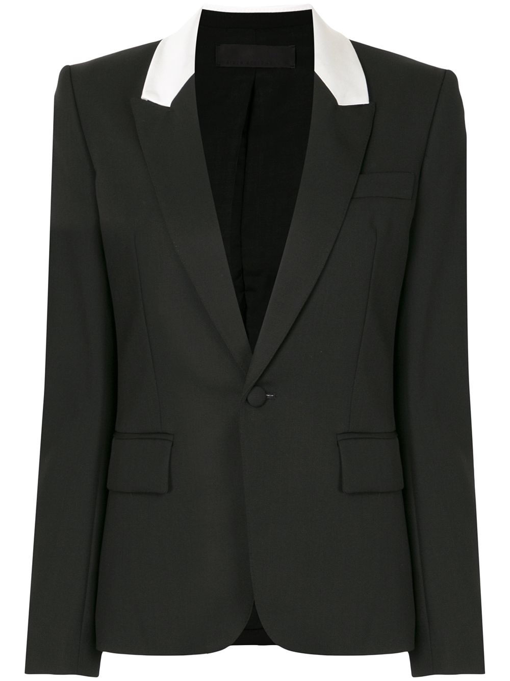 Contrasting lapels fitted blazer - Sz 38-1