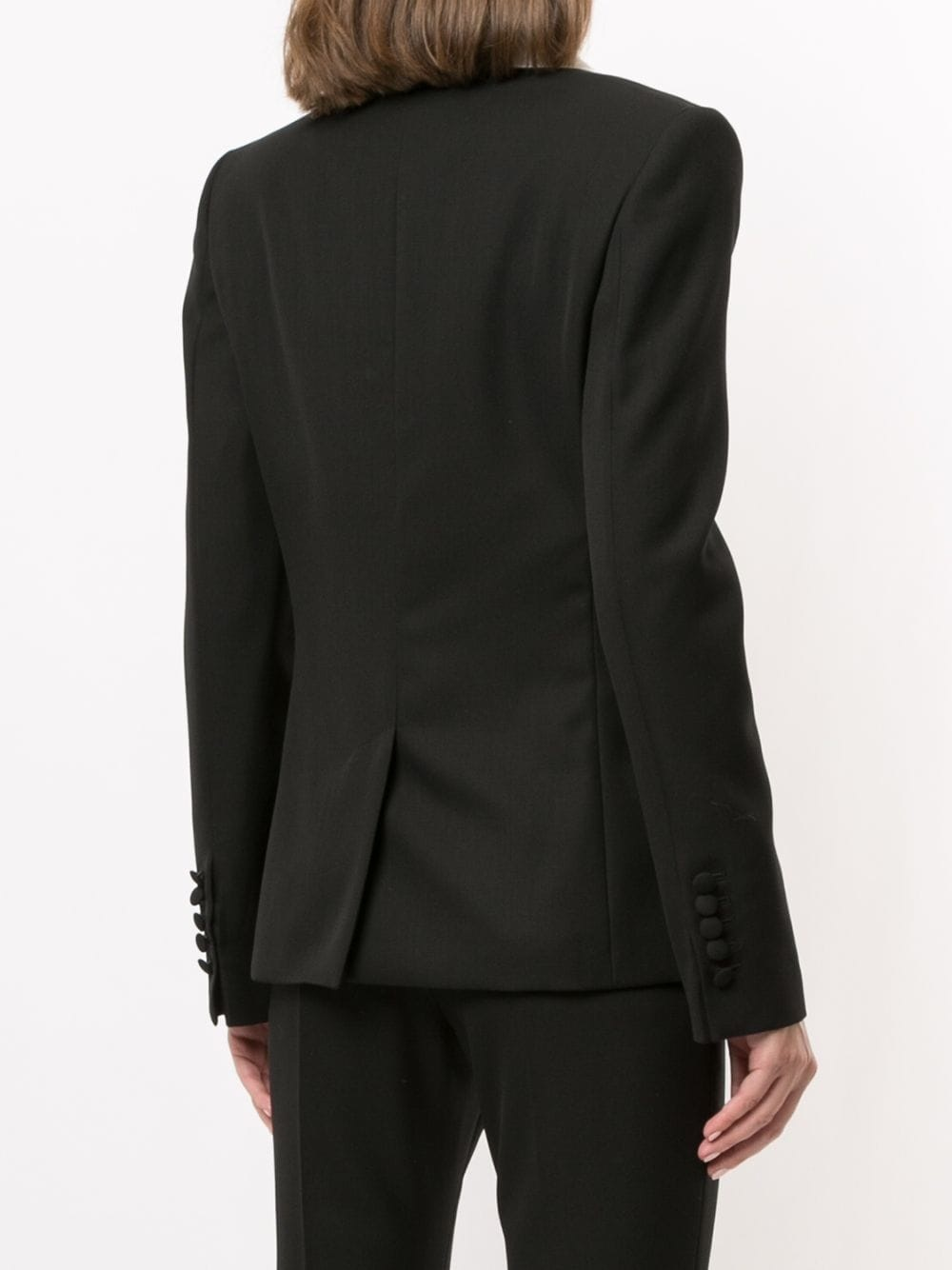 Contrasting lapels fitted blazer - Sz 38-2