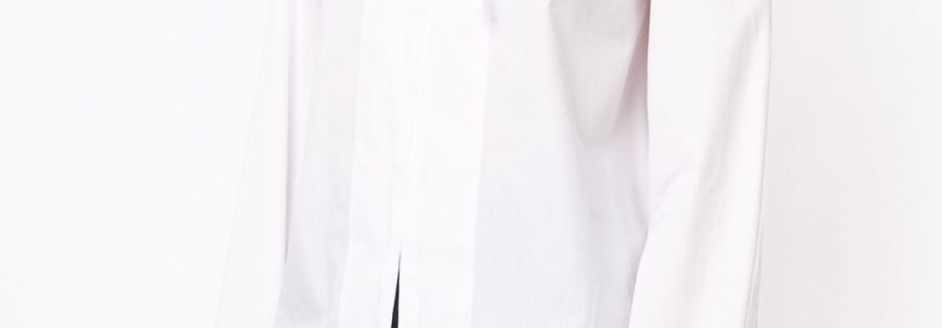 Braided Collar Shirt - White - Sz 38