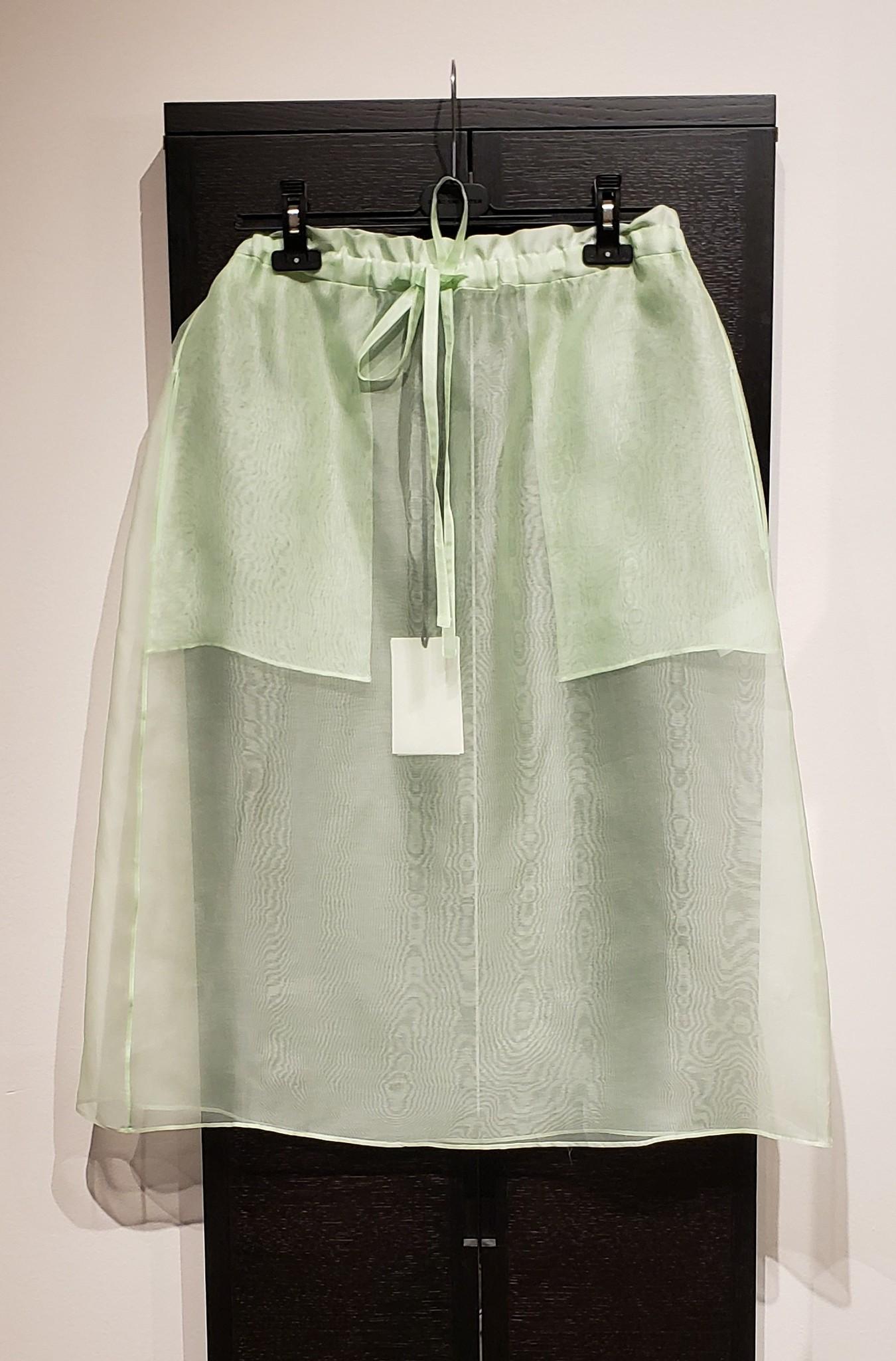Silk Organza Skirt- Mint - Sz 2-1
