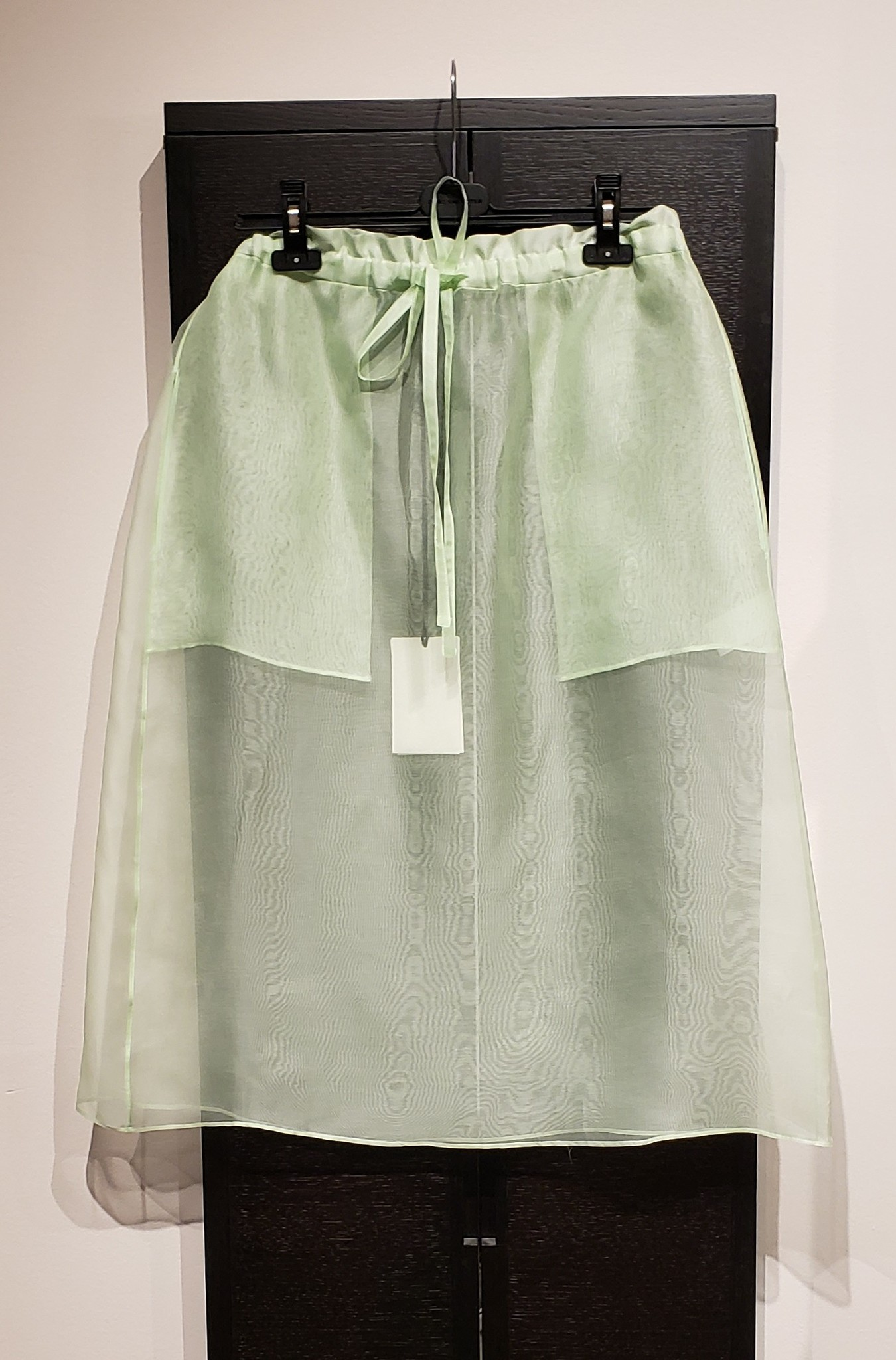 Silk Organza Skirt- Mint - Sz 3-1